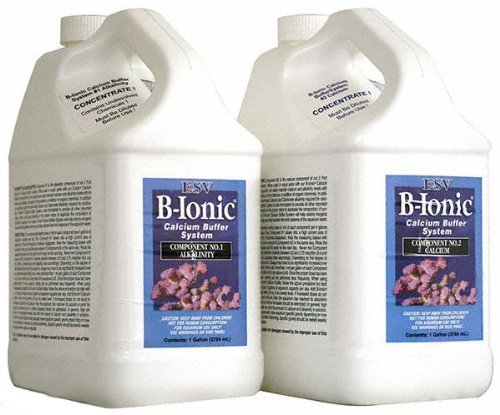 ESV B-Ionic Calcium Buffer System, 2-part Calcium and Alkalinity Maintenance Kit for Salt Water Coral Reef Aquarium, 2-Gallon