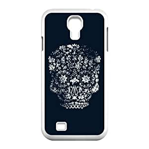 Samsung Galaxy S4 9500 Cell Phone Case White Distressed Day of the Dead Skull Fxows