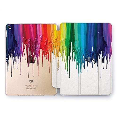 Wonder Wild Rainbow splash Apple iPad Pro Case 9.7 11 inch Mini 1 2 3 4 Air 2 10.5 12.9 2018 2017 Design 6th Gen Clear Smart Hard Cover Texture Artist Designer Palette Colors Bright Print Watercolor