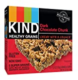 KIND Healthy Grains Bars, Double Chocolate Chunk, Non GMO, Gluten Free, 1.2oz, 5 Count (Pack of 3)