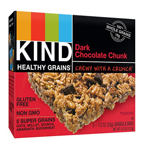 (KIND Healthy Grains Bars, Double Chocolate Chunk, Non GMO, Gluten Free, 1.2oz, 5 Count (Pack of 3))