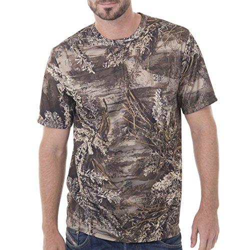 Realtree Men's Short Sleeve Performance T-Shirt, Large, Realtree Max XT Camouflage (Camo Short Sleeve Shirt)