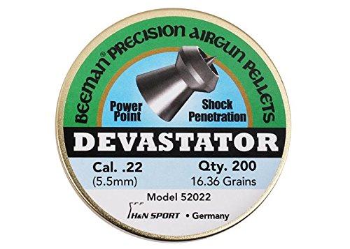 Beeman Devastator, .22 Cal, 16.36 Grains, Pointed, (200 Count)