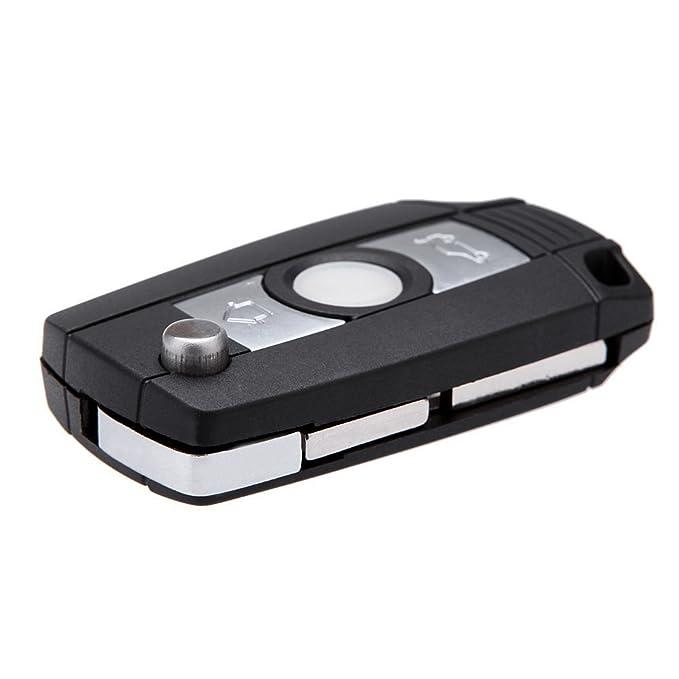 Caja de llave - TOOGOO(R) Caja de llave Llavero sin llave remoto del tiron plegable Cubierta para BMW 3 5 7 SERIES Z3 Z4 E38 E39 E46