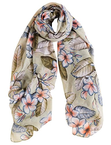 Women Spring Summer Autumn Winter Scarf Ultra Print Plaid Soft Comfortable Fashion Elegant Lady Natural Silk Scarves Shawl Green by Aivtalk