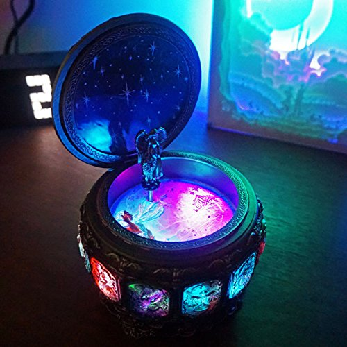 Amiley Musical Boxes, Retro Colorful Twelve Constellations ''Castle in the Sky'' Music Box Anniversary Birthday Christmas Gift (Sagittarius)