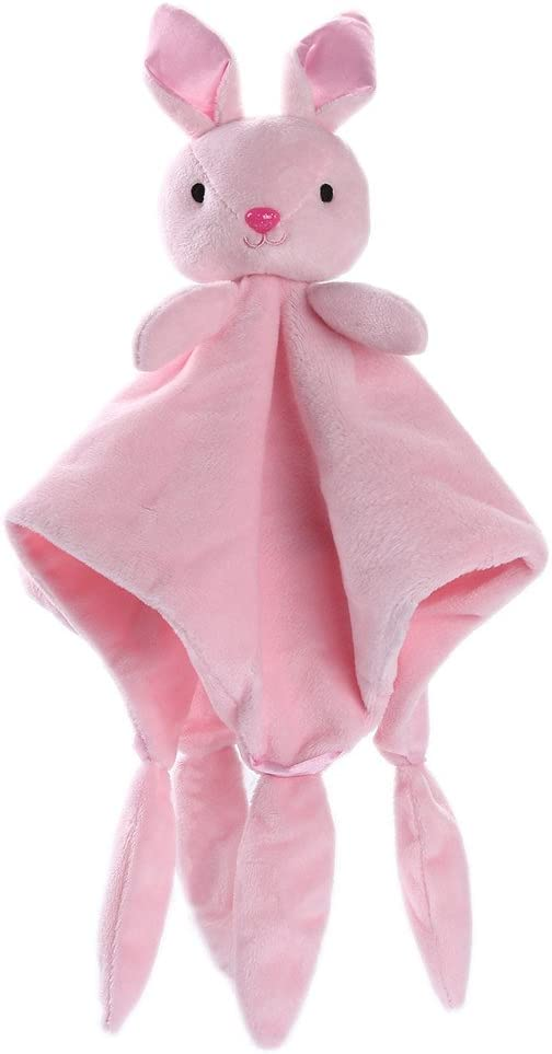 Newborn Baby First Toy Soft Plush Cuddly Bear 30cm Pink Blue with Bell Rattle 0+