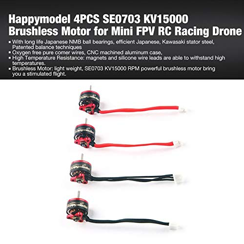 Wikiwand Happymodel 4PCS SE0703 KV15000 Brushless Motor for Mini FPV RC Racing Drone