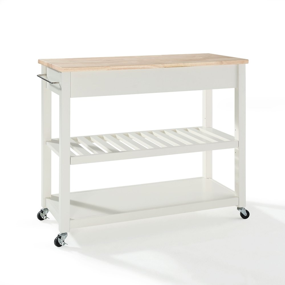 Crosley Furniture Kitchen Cart Amazoncom Crosley Furniture Natural Wood Top Kitchen Cart
