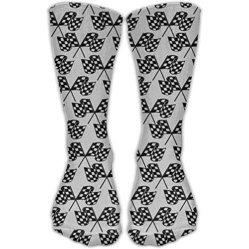 Price comparison product image Men&Women's Checkered Flags Fashion Crew Sock Athletic Ankle Dress Sock One Size