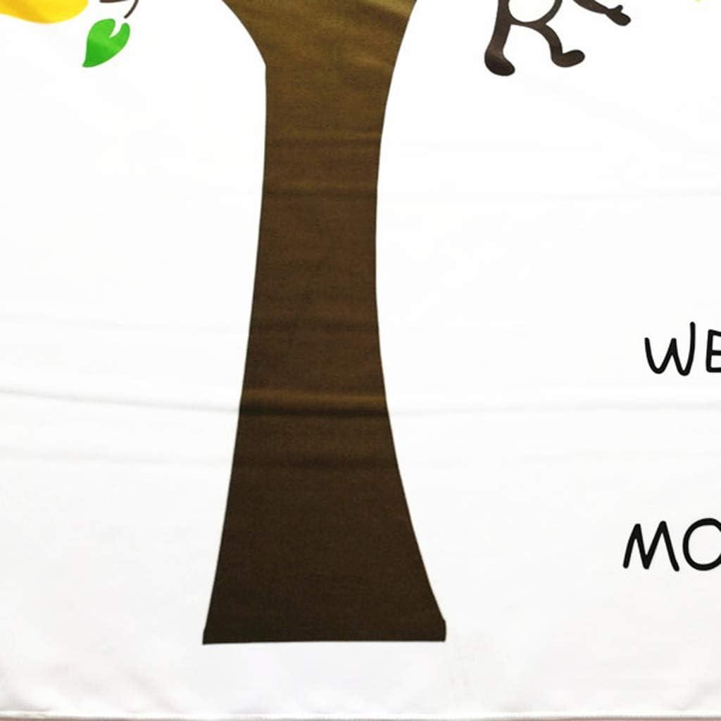 BASSK Couverture Photo Nouveau-n/é B/éb/é Enfants Jalon Tissu De Fond Mensuel