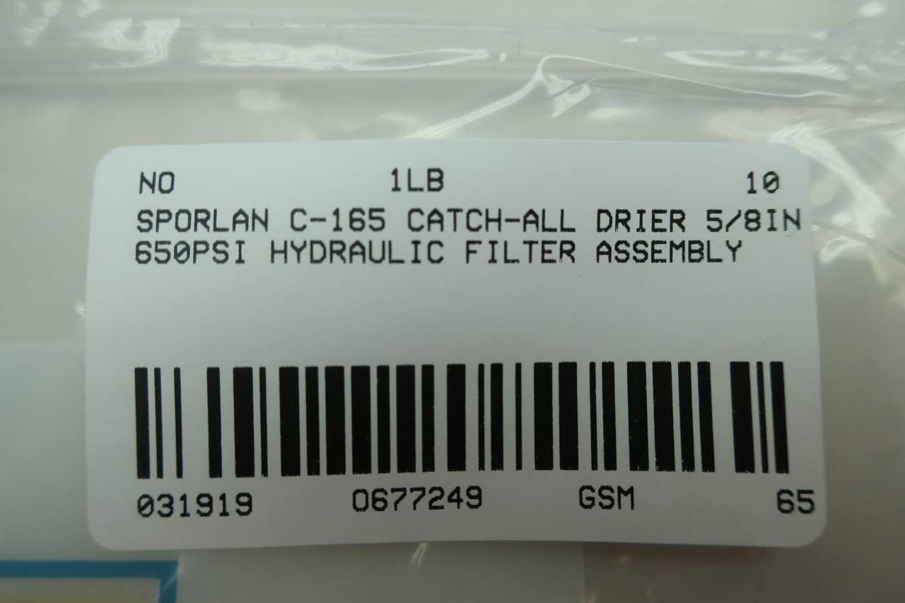 SPORLAN C-165 Catch-All Filter Drier 5//8IN 650PSI