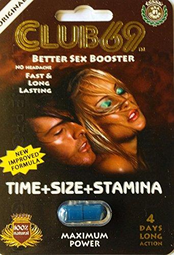 Club 69 Sexe Meilleur Booster 1250mg 4 Jours d'Action de la Pilule pour les Hommes 4 Pack