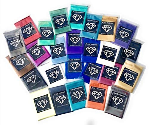 BLACK DIAMOND PIGMENTS 26 Color 2g Each Variety Pack 1 Mica Powder Pigment (Epoxy,Resin,Soap,Plastidip)