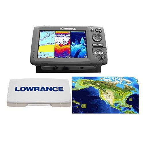Lowrance Hook-7 Nautic Insight Sonar/GPS Mid/High/Downscan Nautic Insight Fishfinder