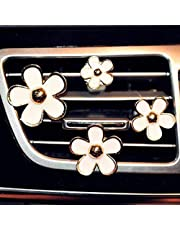 4 Pack Daisy Flowers Air Vent Decorations Cute Automotive Interior Trim Car Accessories Air Freshener Clips