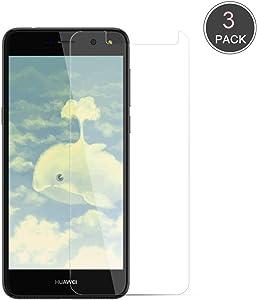 Happy 1st Protector de Pantalla para Huawei Y6 2017, 3 Unidades Transparente [9H Dureza][Alta Definición] Sin Despegamiento Anti-Burbujas Anti-rasguños Cristal Templado Protector