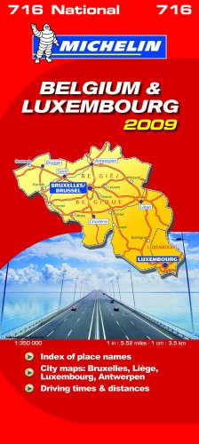 Belgium and Luxembourg 2009 2009 (Michelin National Maps)