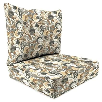 Jordan Manufacturing 2 Piece Deep Seat Chair Cushion Leena Shadow