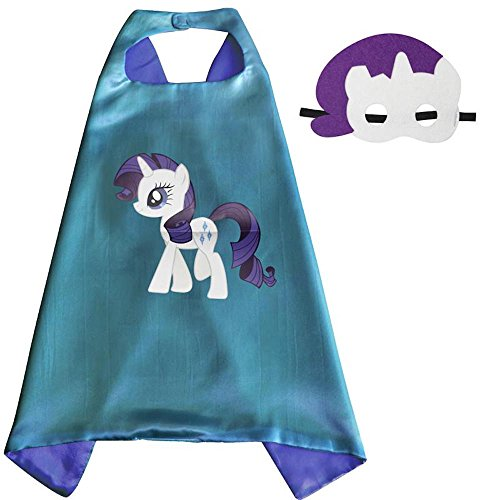 Superhero Cape & Mask Costume Set Super Kids Boys Girls Birthday Party Dress Up Rarity (Zombie Cowgirl Costumes)