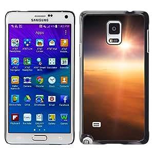 TECHCASE**Cubierta de la caja de protección la piel dura para el ** Samsung Galaxy Note 4 SM-N910 ** Sun Sky High Above Clouds Flying Earth