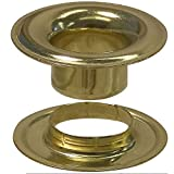Stimpson Sheet Metal Grommet and Neck Washer Brass Durable, Reliable, Heavy-Duty #4 Set (720 Pieces of Each)