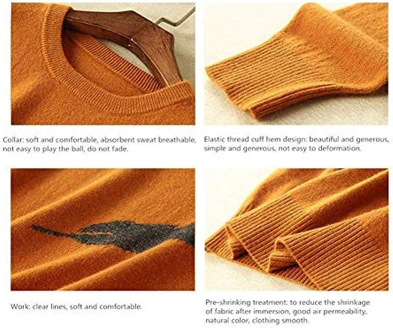 Męski zimowy kaszmir sweter moda sweter elegancka odzież moda długi rękaw okrągły dekolt nadruk sweter dziergany: Odzież