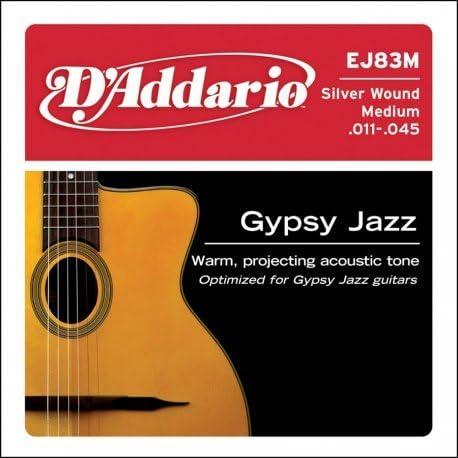 DAddario cuerdas de guitarra Gypsy Jazz, EJ-83-M, 0,11 a 0,45 ...
