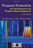 By David Royse Program Evaluation: An Introduction to an Evidence-Based Approach (6th Sixth Edition) [Paperback]