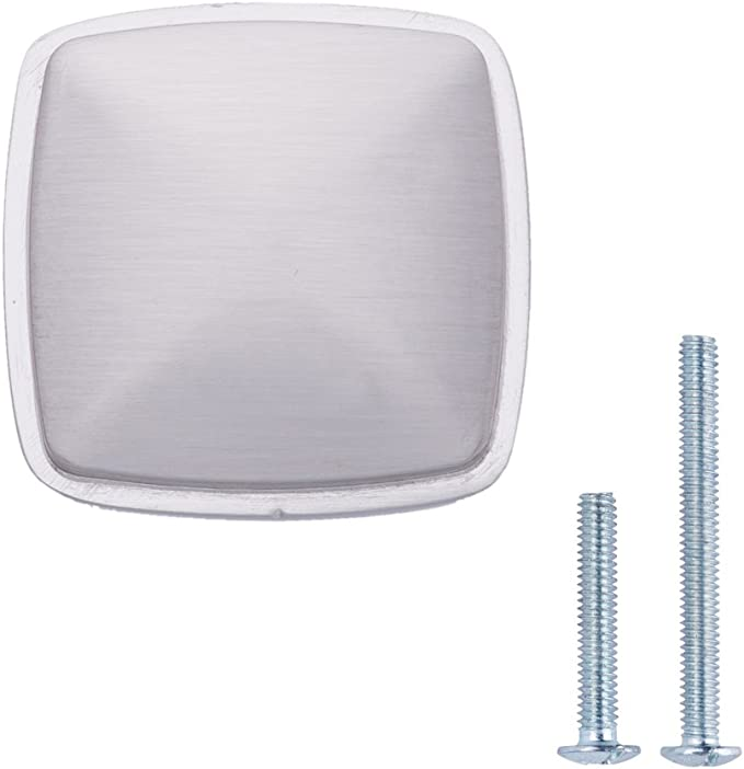 Cromo pulido Pomo de armario redondo y plano 3,47 cm de di/ámetro Basics Paquete de 25
