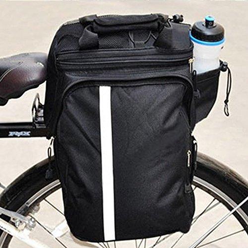Lexiesxue Cycling Bicycle Bike Pannier Rear Seat Bag Rack Trunk Handle Handbag Storage