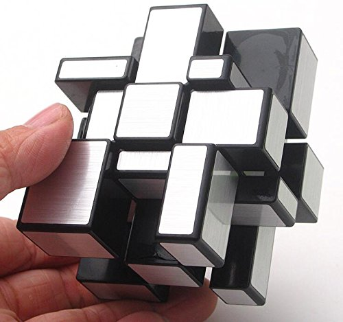 CuberSpeed Qiyi Mirror 3x3x3 Silver Sticker Magic Cube Qiyi Black 3x3 Silver Mirror Blocks Speed cube