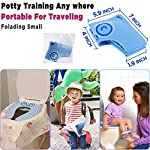 """Gimars Upgrade Large Non Slip Silicone Pads Travel Folding Portable Reusable Toilet Potty Training Seat Covers Liners with Carry Bag for Babies, Toddlers and Kids 9 Upgrade Version 6 pcs Large Nonslip Silicone Pads - Increasing 6 pcs Non Slip padding, not like other suppliers'2 pcs and increase the contact area of friction between the toilet cover and potty training seat, avoiding your babies falling off to the toilet effectively; No Gap to Pinch - Enhance the tightness of joint, more firmly, no gap design solve the problem of pinches bottom. Fits Most standard toilet, helps babies learn how to use toilet bowl in restroom with more confidence when you are out and about Freely switch Foldable To Unfoldable Design - Toilet Seat cover Folds up pretty small size of 7''L x 6''W x 2''H to bring to public restrooms easily and perfect for your children's away-from-home bathroom's needs and compact for """"on the go"""" and traveling; Also can stay Unfoldable 13.5''L x 11 ''W x 1''H, Perfect for every baby potty training everyday use at home"""