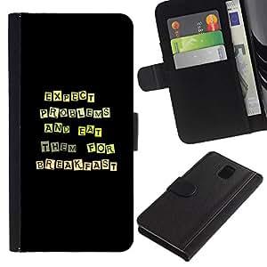 Be Good Phone Accessory // Dura Cáscara cubierta Protectora Caso Carcasa Funda de Protección para Samsung Note 3 N9000 N9002 N9005 // Funny Except Problems & Eat Them