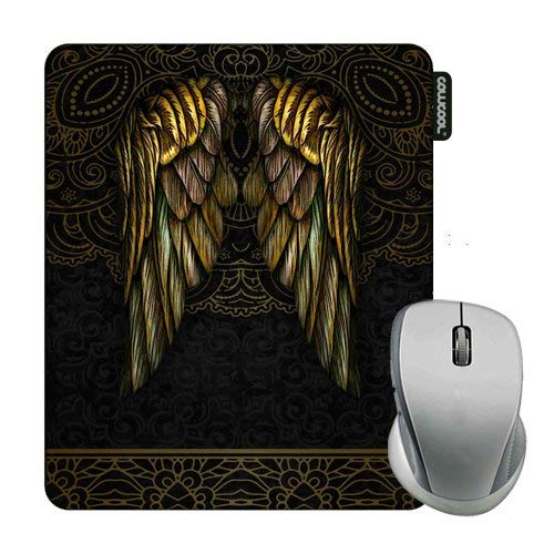 Cowcool Mouse Pad with Vintage Wing Tribal Gold Lace Mouse Pads for Computers Laptop Gameing
