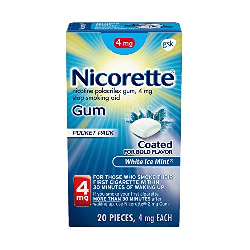 Nicorette 4mg Nicotine Gum to Quit Smoking White