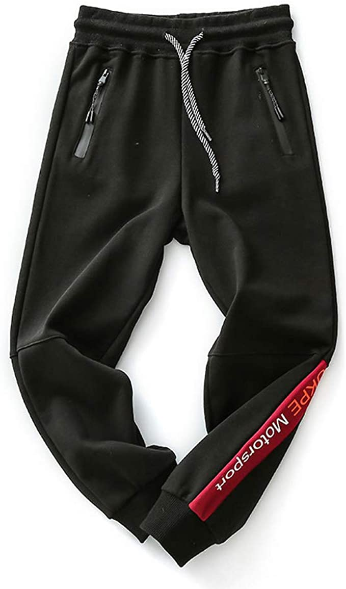 Coralup - Pantalones de chándal Unisex, de algodón, elásticos, con ...