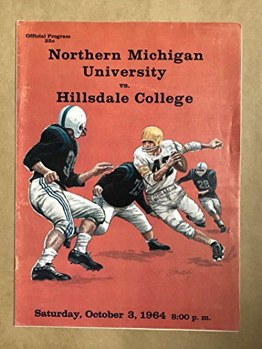 HILLSDALE COLLEGE NORTHERN MICHIGAN COLLEGE FOOTBALL PROGRAMS 1964 - Hillsdale Shops