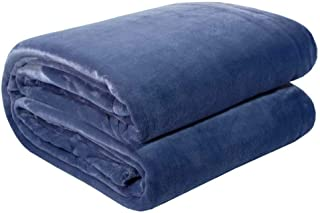 product image for American Blanket Company, Luxurious Luster Loft Fleece Blanket, Soft and Warm King Blanket in Atlantic Blue