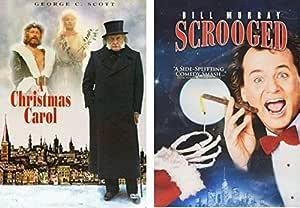 Scrooged & A Christmas Carol - Holiday DVD pack - George C. Scott & Bill Murray