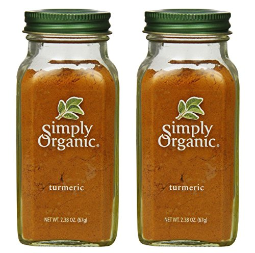 2 Packs of Simply Organic Turmeric Root Ground Certified Organic, 2.38 oz