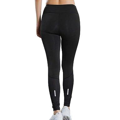 691edb839df2d Creazrise Womens Fitness Yoga Pants Elastic Reflective Strip Night Running  Fast-Drying Leggings Black