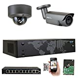 GW Security AutoFocus 4X Optical Motorized Zoom IP Camera System, 8 Channel H.265 4K NVR, (1) Bullet & (1) Dome 5MP HD 1920P Weatherproof POE Security Camera Review