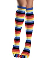 Be Wicked Women's Rainbow Knee Highs with Rainbow Toes