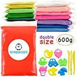 Air Dry Clay, Ultra Light Modeling Clay for Kids - 15 Colors DIY Air Dry Modeling Clay with Double Sized Bags (1.4 oz per color) with Tools and Models, Non-sticky and Non-Toxic