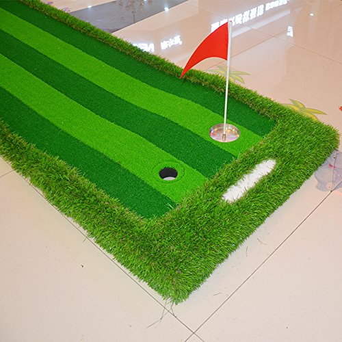 FUNGREEN 75X300CM Golf Putting Green System Professional Practice Indoor/outdoor Backyard Golf Training Mat Aid Equipment with 3 Colors Grass by FUNGREEN (Image #6)