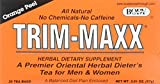 Trim-Maxx Orange Peel Herbal Dietary Supplement All Natural No Chemicals No Caffeine 30 Tea Bags For Sale