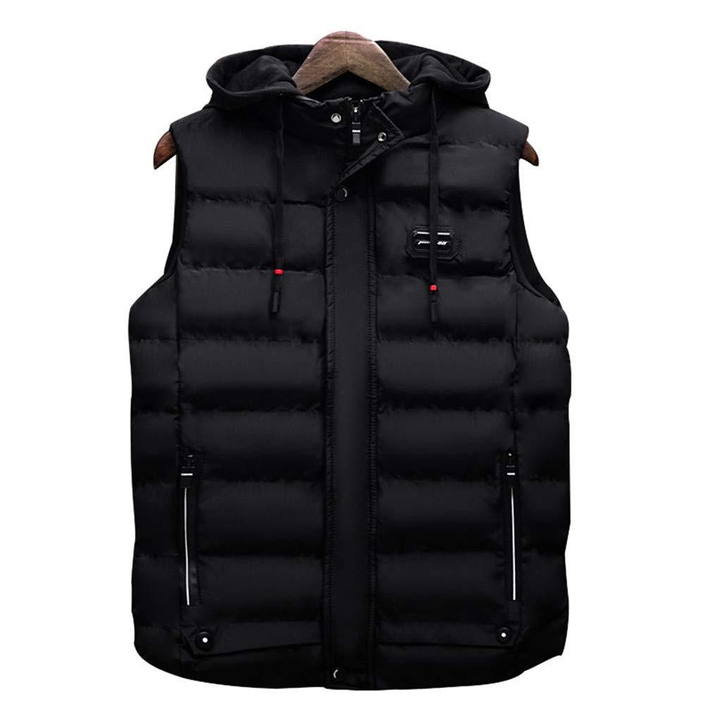 MEI Guihua Men Fashion Vest Casual Cotton-Padded Waistcoat Sleeveless Jacket Coat