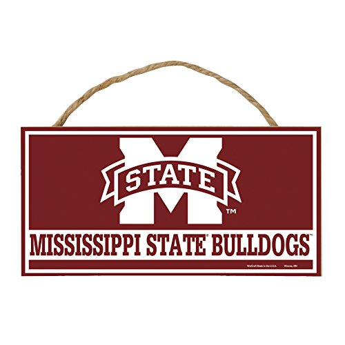 WinCraft NCAA Mississippi State Bulldogs Hardboard Wood Signs with Rope, 5 x 10-Inch, Multi ()