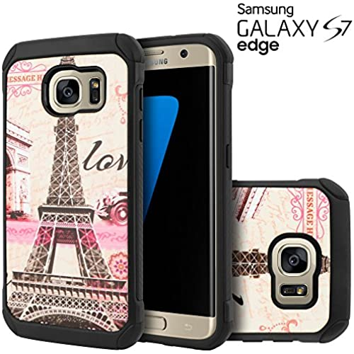 Galaxy S7 Edge Case, Celljoy [Shock Armor] {Eiffel Tower Paris} Samsung S7 Edge G935 Slim Fit Dual Layer Protective Sales